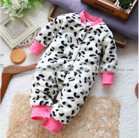 Autumn and winter cotton romper bodysuit baby girl outerwear baby jumpsuit cotton fleece lining baby clothes baby winter romper