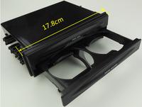 Universal Car Single/Double Din Radio Pocket Kit w/Drink-Cup Holder +Storage Box Dash Storage Pocket