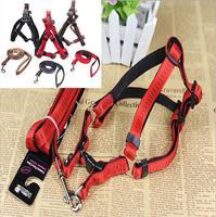 Foam Leash + H type red black brown choose size S M L harness dog leash small / medium / large HL48