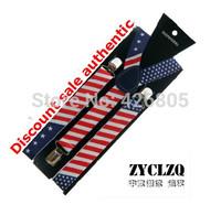Tidal current male clip suspenders clip suspenders women's suspenders american flag suspenders