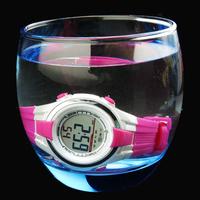 30m Waterproof  LED Watch for 5~15 Years Children Kids/ Mingrui Brand Silicone Digital Sports Watches 2014 New Clock MR04