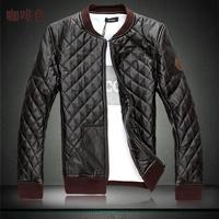 Plus Size M-4XL 5XL 6XL(chest 130 cm) 2014 New Autumn Man Jacket Soft PU Leather Fashion Overcoat Outerwear Men's Coat xxxxxxl