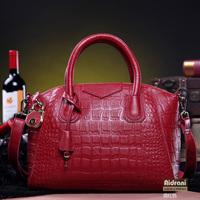 2014 crocodile pattern genuine leather women fashion bag trend bag platinum trend bag vintage bag