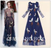 2014 runway dresses women high quality dresses brand long dresses