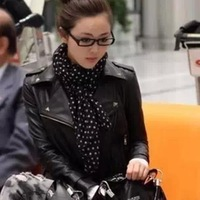jackets leather women spring 2014 short design casual outerwear turndown collar motorcycle leather clothing women
