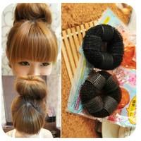 Min order is $10(mix order)Sponge hair band Bun Clip Maker Former Foam Twist Hair Salon Tool