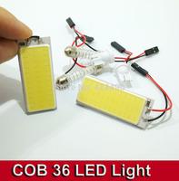 2sets/lot 5W COB Chip 36 led LED Car Interior Light T10 Festoon Dome BA9S Adapter 12V,Wholesale Car Vehicle LED Panel