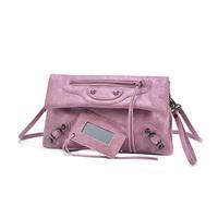 New arrival 2014 Designer Brand women leather handbag Fashion rivet women clutch women messenger bag motorcycle clutch bag
