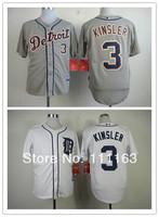 2014 New Baseball Jersey Detroit Tigers Ian Kinsler  #3 Cool Base Jerseys-Gray,White,Size:48~56+Free Shipping,Mix Order