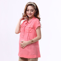 2014 mommas maternity clothing summer short-sleeve top for pregnant women fashion maternity shirt