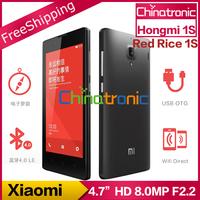 """Original Xiaomi Hongmi 1S  Red Rice 1S Redmi 1S Mobile Phone Qualcomm Quad-core Multi-language Dual SIM WCDMA 4.7""""HD IPS 8.0MP"""