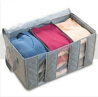 Bamboo clothes Storage box,Multifunction Folding Large Storage Box Organizer bag 65L 60*35*31cm 072302