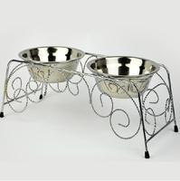 Free Shipping! Mount bowl pet bowl stainless steel bowl dog bowl water dispenser basin pet supplies