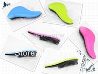 18PCS/LOT Hot Beauty And Health Teezer Hairbrush Dtangler Hair Comb Professional Brushes Antistatic Brush