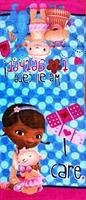 Free shipping Doc McStuffins Doll Kids Animal Children's Cartoon Beach Bath Towels 100% cotton Towels Bathroom For Children