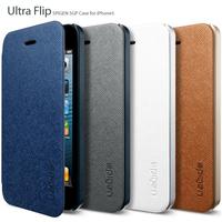 New 2014 Fashion Original SGP SPIGEN Ultra Flip Leather case Card Hybrid Series cover Luxury Fashion PU Skin For iphone5 5G 5S