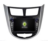 100% Pure Android 4.1  Car DVD player Radio Stereo GPS for Hyundai Verna Solaris + Capacitive screen