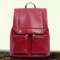 2014 New fashion women backpack solid drawnstring college wind female school bag with tassel shoulder bag