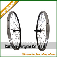 24mm clincher alloy carbon bicycle wheels 700c carbon fiber road bike racing wheelset free shipping