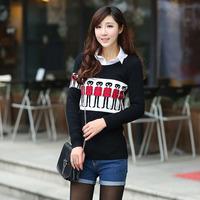 spring 2014 knitted sweater, hot sale women brand pullover women, women knitwear, women blouse, casual dress