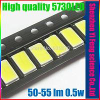 5630/5730-WW 0.5W 50-55lm 6500K White Light SMD 5730 LED - (3.2~3.4V / 50 PCS)