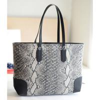 2014 free shipping fashion brief vintage women's handbag big snake pattern shoulder bags