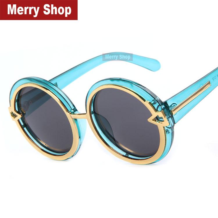 2014 New VINTAGE STEAM PUNK Tops round Women Sunglasses Fashion steampunk Metal Star Women Retro CIRCLE sunglasses(China (Mainland))