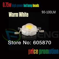 High Power led 0.75W led 90-100LM 3.2-3.4V 0.75W Warm White led lamp4000-4500K 100pcs