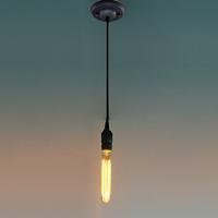 Ecopower 40-Watt Nostalgic Edison Bulb, Antique Tubular, Hairpin Filament for chandelier pendant lamp E26 or E27
