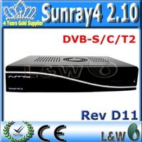 Satellite Receiver Sunray sr4 2.10 Dm800hd se Triple tuner S(S2)/C/T2 Rev D11 Enigma2 300Mbps WIFI sunray4  DHL Free Shipping