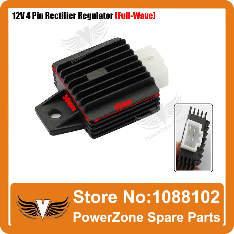 Dirt Pit Monkey Bike 12V 4 Pins Voltage Regulator Full-Wave Rectifier 50cc 90cc 110cc 125cc ATV Quad Universal Free Fhipping(China (Mainland))