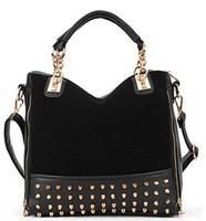 2014 Fashion women's work bag casual leather handbags scrub rivet shoulder bag women messenger bags,