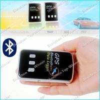 High Sensitivity Portable Bluetooth GPS Tracker 65-Channel Bluetooth GPS Data Logger Car Navigation Free Shipping