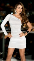 thin section nightclub evening party dress chest wrapped tight sexy party dress 1594-2 , free shipping