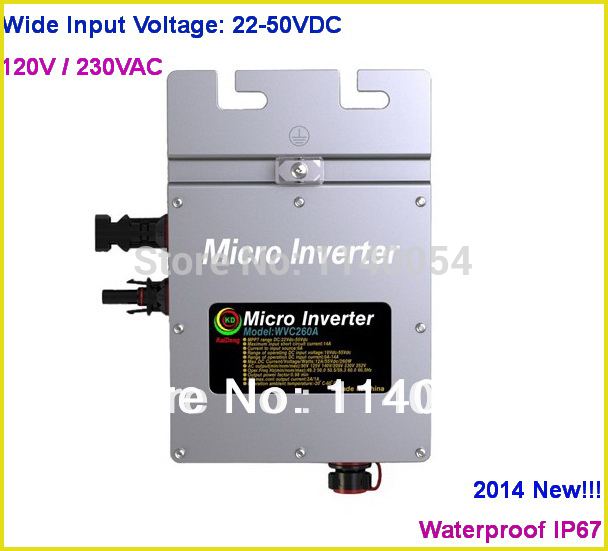 260W 80-160VAC / 180-260VAC Solar Grid Tie Micro Inverter with Communication Function, with 22-50VDC Wide Voltage Inverter(China (Mainland))