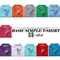 12 color M-XXXL 2014 free shipping summer plaid collar men's clothing Casual Cotton short-sleeve polo shirt men tops tees