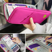 5 Colors Zipper Passport Cover,Multifuctional Passport Holder For women Travel Accessories Passport Packing Organizer