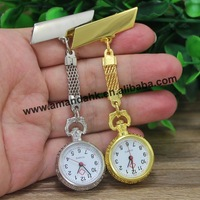 100pcs/lot, Promotion Vintage Flower Nurse watch Alloy  Medical Doctor Watches Gift Brooch Fashion Popular Novelry Wholesale
