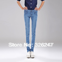 2014  new Korean Women Slim skinny jeans feet pencil pants elastic big yards wholesale