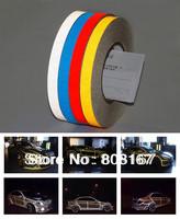 Free shipping 45M/Roll Super reflective strip car be light garland luminous stickers body decoration full reflectors width 1cm
