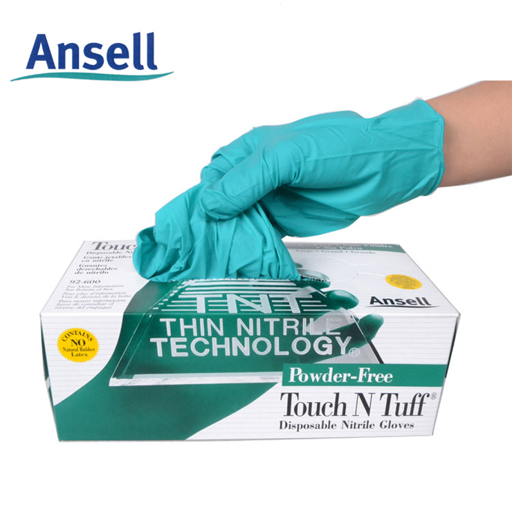 free shipping Ansell 92 - 600 thickening chemical laboratory testing of disposable medical nitrile rubber gloves SGV002(China (Mainland))