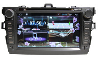 Pure Android 4.1 Car DVD For Toyota Corolla Capacitive Touchscreen A9 Dual Core 1GHZ Cpu GPS BT TV Radio RDS,Wifi,3G,Free ship