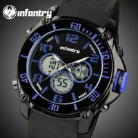 INFANTRY Men's Digital Quartz Backlight Wrist Watch Black Silicone Multi Functional New US Aviator Army