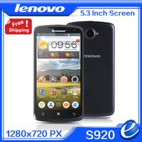 2014 new Original Lenovo S920 blue white 5.3inch IPS Mobile phone MTK6589 Quad core1.2G 1G RAM 4G ROM Android 4.2 8MP cellphone