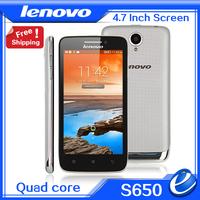 Original Lenovo S650 mini s960 Vibe X Smartphone Quad Core 4.7inch 1.3GHZ Android 4.2 MTK6582M 1.3GHz 8.0MP Camera