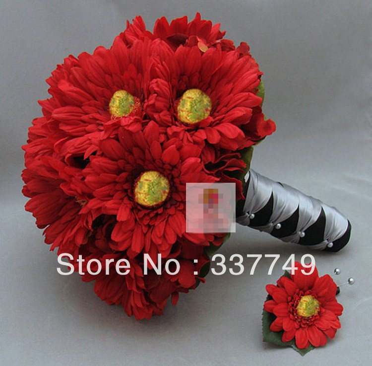 Bridal Bouquets 2014 Bridal Bouquet Red Gerbera