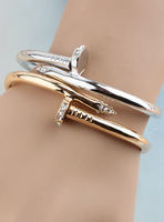 Free shipping 2014 Bracelet female accessories rose gold rhinestone vintage accessories fashion bracelets bangles