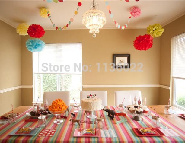 "Wholesale 200Pcs (6""/15cm) Tissue Pom Poms Paper Flower Balls Handmade Wedding Party Decoration Morden Vintage Free Shipping(China (Mainland))"