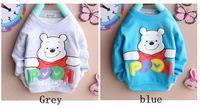 "1pc New baby kids boys Long Sleeve Cotton T-shirt outerwear ""bear """