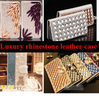 Luxury  rhinestone Leather case for JIAYU G4 3000mah Ver protective cover Good soft genuine handfeel holster Free shipping